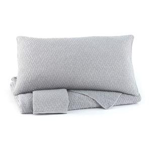 Комплект постільної білизни Stitched Light Gray